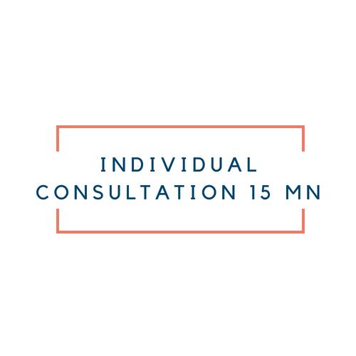 Individual consultation 15 minutes