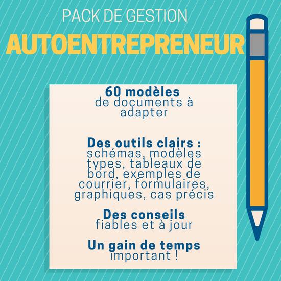 Pack complet de création et de gestion Autoentrepreneur