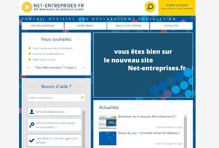 Declaration Autoentrepreneur Le Site Net Entreprises Se Modernise